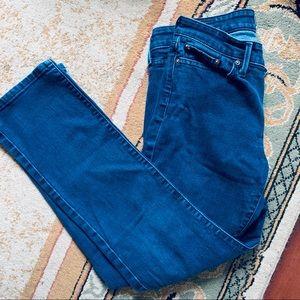 Levi's Slight Curve Straight Leg Blue Jeans